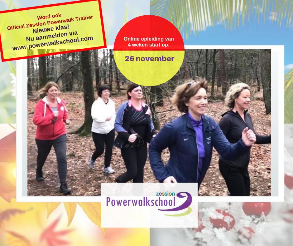 Powerwalk, Powerwalking, Fitwalk, Sportief Wandelen of stevig doorstappen. Je leert het allemaal bij Zession in de jaaropleiding of verkorte opleiding